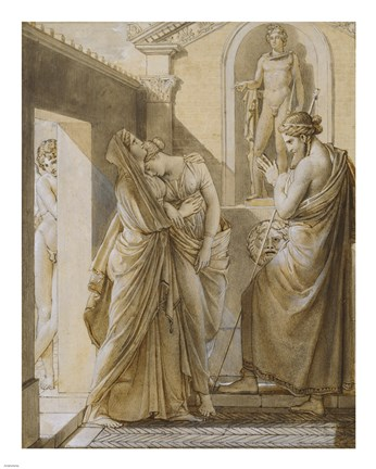 Framed Father of Psyche Consulting the Oracle of Apollo Print