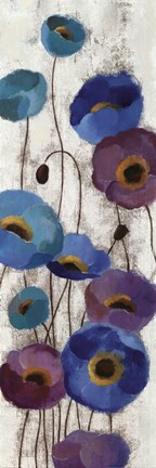 Framed Bold Anemones Panel III Print