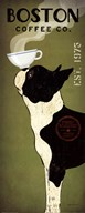 Boston Terrier Coffee Co  Fine Art Print