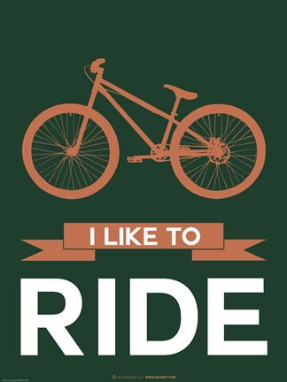 Framed I Like To Ride 5 Print