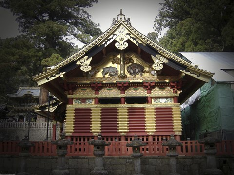 Framed Nikko Architecture With Gold Roof Print