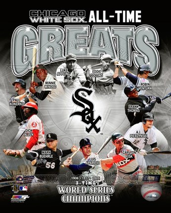 Framed Chicago White Sox All Time Greats Composite Print
