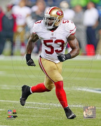 Framed NaVorro Bowman 2013 Action Print