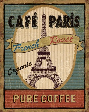 Framed Coffee Blend Label II Print