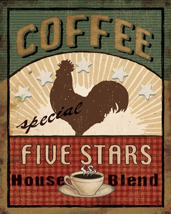 Framed Coffee Blend Label III Print