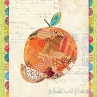 Fruit Collage IV - Orange  Fine Art Print