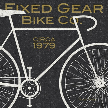Framed Fixed Gear Bike Co. Print