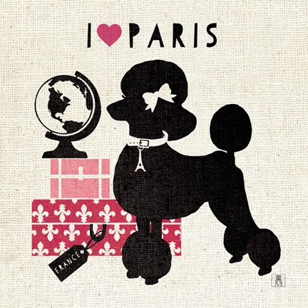 Framed Paris Pooch Print
