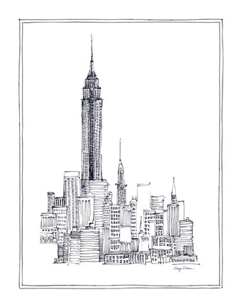 Framed Empire State Print
