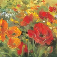 Oriental Poppy Field I Art