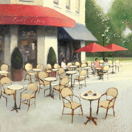 cafe du matin ii fine art print by james wiens at. Black Bedroom Furniture Sets. Home Design Ideas