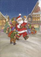 Santa Clause is Coming to Town  Fine Art Print
