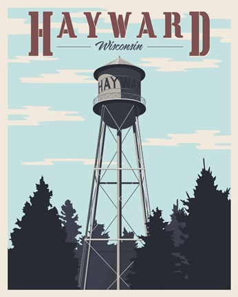 Framed Hayward Water Tower Print