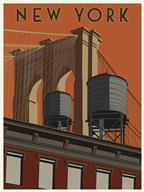 New York Travel Poster  Fine Art Print