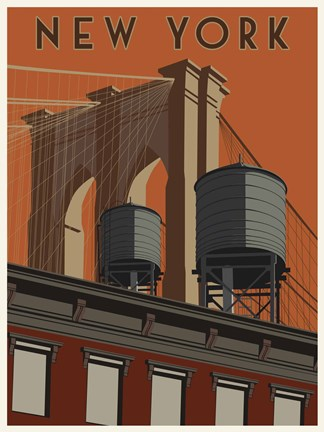Framed New York Travel Poster Print