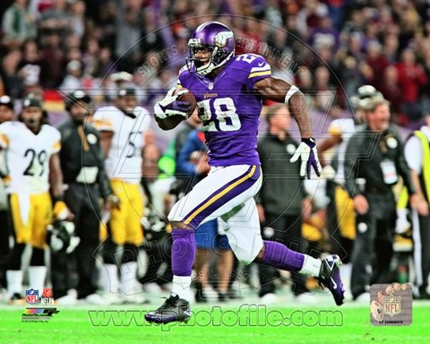 Framed Adrian Peterson 2013 running on the field Print