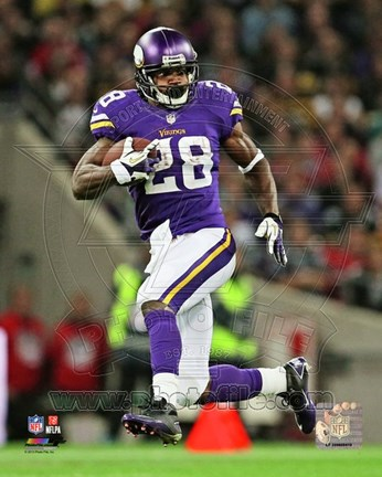 Framed Adrian Peterson 2013 football Action Print