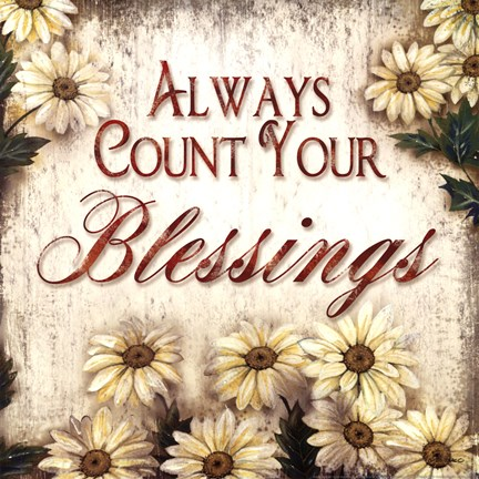 Framed Count Your Blessings Print