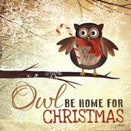 Owl be Home for Christmas Art