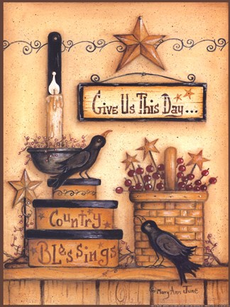 Give Us This Day Fine Art Print By Mary Ann June At