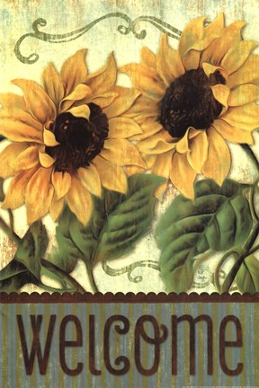 Sunflower Welcome Fine Art Print By Mollie B At