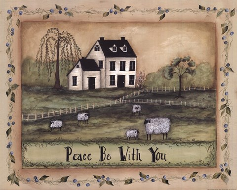 Peace Be With You Fine Art Print By Pat Fischer At