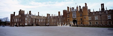 Framed Facade of a building, Hampton Court Palace, London, England Print