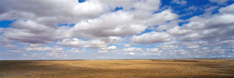 Framed Clouds over open rangeland, Texas, USA Print