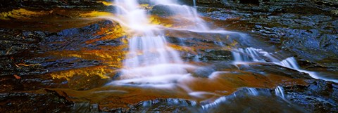 Framed Waterfall, Wentworth Falls, Weeping Rock, New South Wales, Australia Print