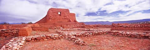 Framed Ruins of the Mission, Pecos National Historical Park, Pecos, New Mexico, USA Print