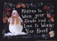 Mittens to a Warm Heart  Fine Art Print
