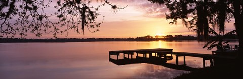 Framed Lake Whippoorwill, Sunrise, Florida Print