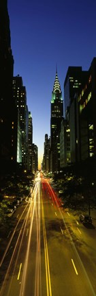 Framed Lexington Avenue, Cityscape, NYC, New York City, New York State, USA Print