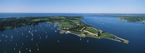 Framed Aerial view of a fortress, Fort Adams, Newport, Rhode Island, USA Print