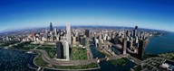Aerial view of Chicago IL Art