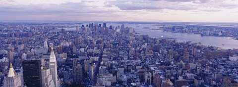 Framed Aerial View From Top Of Empire State Building, Manhattan, NYC, New York City, New York State, USA Print