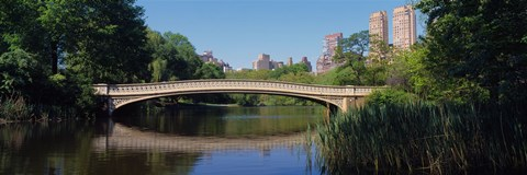 Framed Bridge across a lake, Central Park, New York City, New York State, USA Print