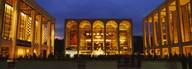 Entertainment building lit up at night, Lincoln Center, Manhattan, New York City, New York State, USA  Fine Art Print