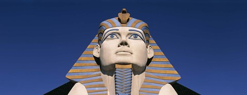 Framed Low angle view of a sphinx, Luxor Hotel Sphinx, Las Vegas, Nevada, USA Print