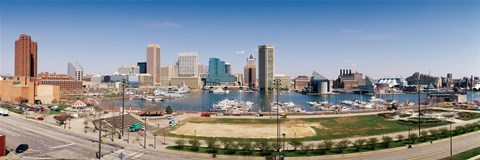Framed Baltimore, Maryland skyline Print