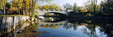 Framed Bridge across a river, Yahara River, Madison, Dane County, Wisconsin, USA Print