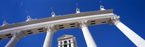 Framed Low angle view of a hotel, Caesars Palace, The Las Vegas Strip, Las Vegas, Nevada, USA Print