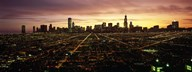 CGI composite, High angle view of a city at night, Chicago, Cook County, Illinois, USA Art