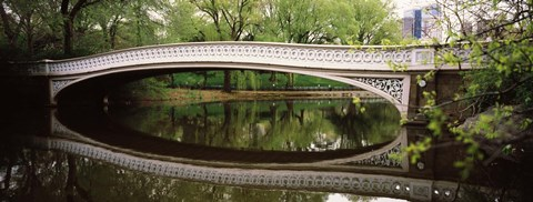 Framed Arch bridge across a lake, Central Park, Manhattan, New York City, New York State, USA Print
