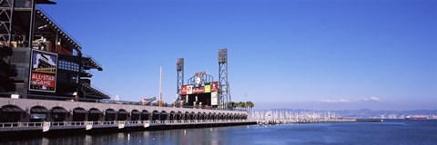 Framed Baseball park at the waterfront, AT&T Park, San Francisco, California, USA Print