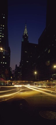 Framed Buildings in a city, Chrysler Building, Manhattan, New York City, New York State, USA Print