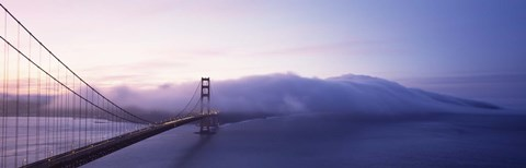 Framed Bridge across the sea, Golden Gate Bridge, San Francisco, California, USA Print