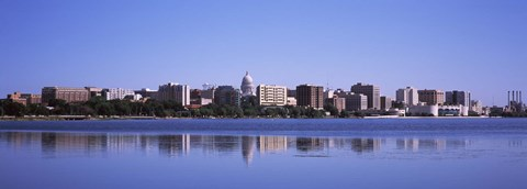 Framed Lake Monona and Madison Skyline,Wisconsin Print