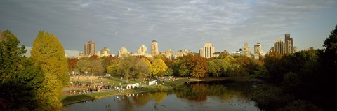 Framed Park with buildings in the background, Central Park, Manhattan, New York City, New York State, USA Print