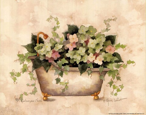 Hydrangea Bath Fine Art Print By Annie Lapoint At